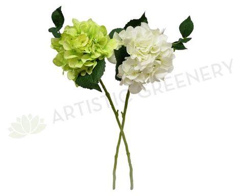 artistic greenery buy quality artificial flowers trees f0140 hydrangea single stem quality silk 60cm 6 colours