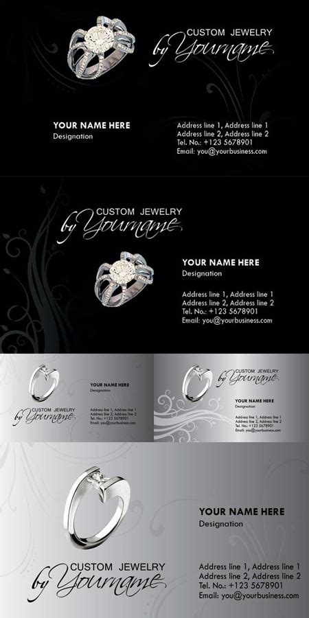 jewelry business cards templates free jewelry business card photoshop templates