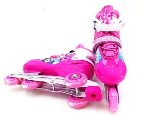 Roda Sepatu detail sepatu roda inline frozen pink toko bunda