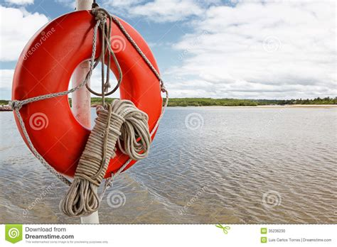 boat buoy rope life buoy and rope on boat stock photo image 35236230