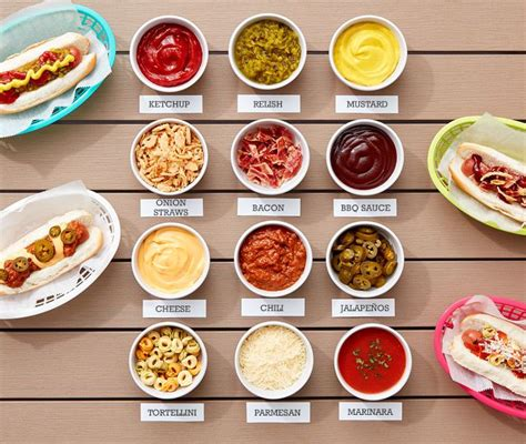 hot dog bar toppings 25 best ideas about hot dog bar on pinterest hot dog