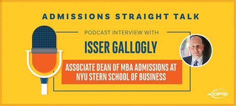 Who To Talk To About Mba Admission by A Look Inside Nyu S New Application Programs