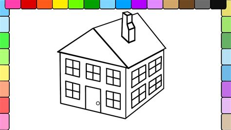 house drawing images www imgkid com the image kid has it learn to color for kids and color this 3d house coloring