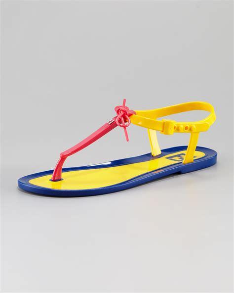 Sandal Jelly Zurarah Sandal Slop Flat Jelly Shoes Sepatu Sandal fendi jelly flat sandal in multicolor pink yellow blue lyst