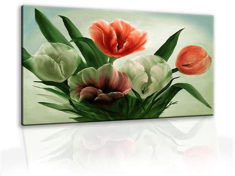 fiori ad olio dipinti a mano moderni ad olio con tulipani fiori