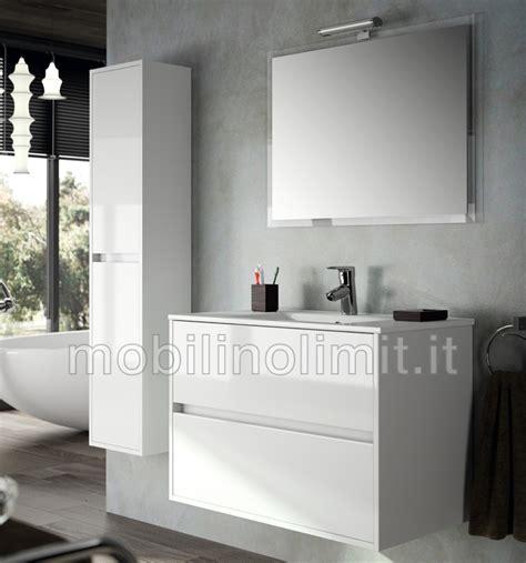 mobili bagno bianchi mobile bagno moderno con lavabo l 80 bianco lucido