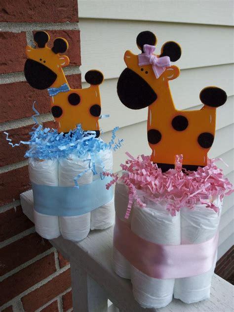Giraffe Centerpieces For Baby Shower 3 giraffe mini cakes boy or baby shower centerpieces baby showers minis and boy