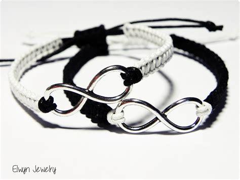 matching bracelets couples bracelets black white infinity