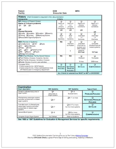 Cms Timely Documentation Guidelines free e m coding sheet to improve billing