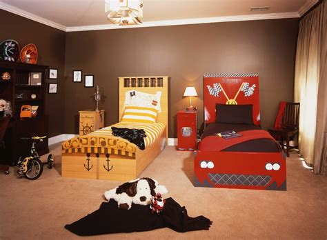 eclectic boys bedroom seems drenched in red and black boys eclectic kids beds los angeles by finished by