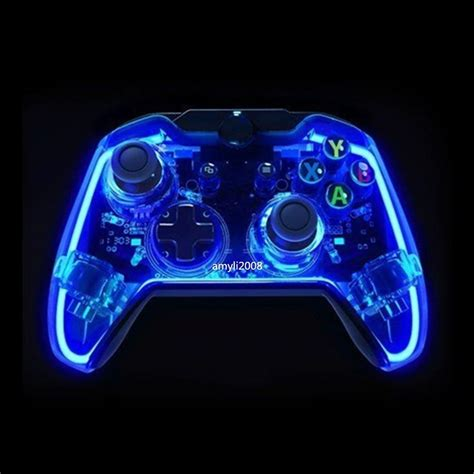 Glow Light Wired Controller Game Console Gamepad For Lights With Controller