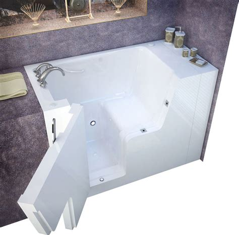 wheelchair accessible bathtubs meditub 29x53 left drain white soaking wheelchair