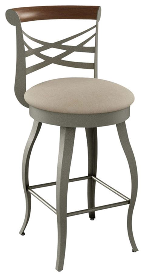Transitional Bar Stools by Amisco Whisky Swivel Barstool Transitional Bar Stools