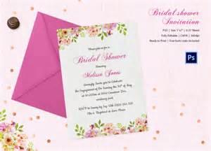 free bridal shower invitation templates 25 bridal shower invitations templates psd invitations