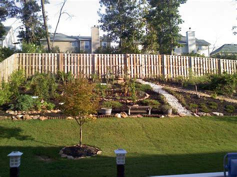 how to level a backyard slope triyae com retaining wall to level backyard various