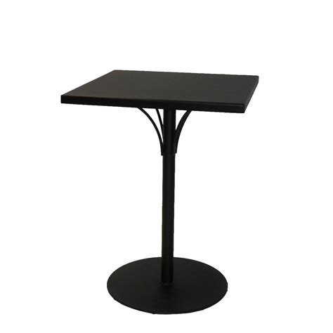 Aluminium Bar Table Aluminum Solid Top 30 Quot Square Bar Height Table With Pedestal Base Woodard Furniture