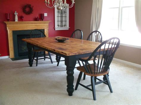 i want a two tone harvest table similar to this one for my