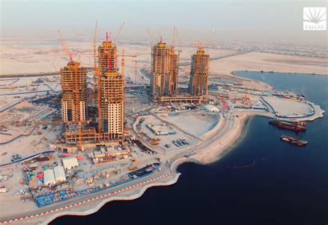 Video: Construction progress at Emaar's Dubai Creek Harbour ConstructionWeekOnline.com