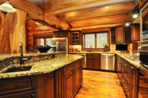 Mountain Homes Interiors by Log Home Interiors Log Cabin Interior Kitchen Mountain Log