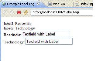 xml tutorial roseindia struts2 2 1 label tag exle