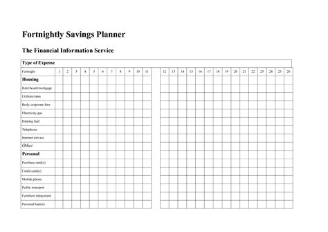 savings planner template best photos of template budget savings free printable