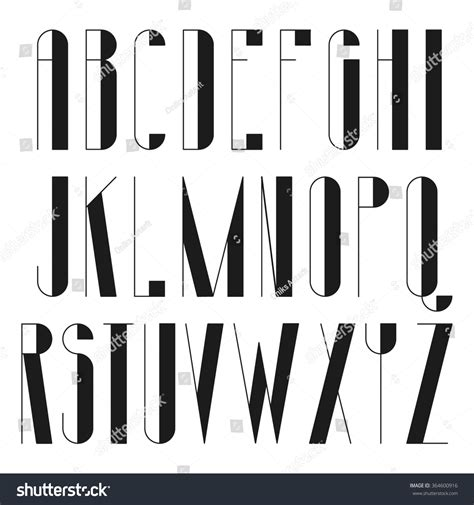 thin decorative font round long font with decorative elements thin vector font