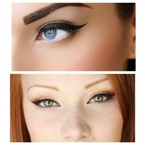 eyeliner tutorial top and bottom the difference between cat eyes and winged eyeliner