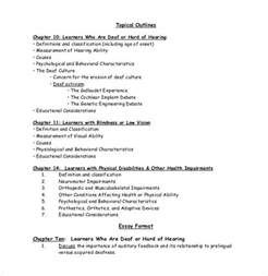 topical outline template essay outline template 25 free sle exle format