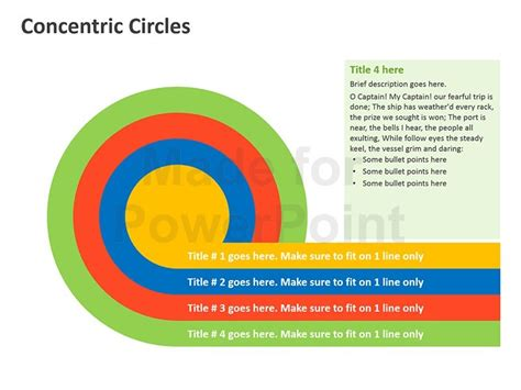 3d Concentric Circles Editable Ppt Shapes Concentric Circles Powerpoint Template