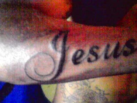 tattoo jesus name tattoo name jesus by psychopaintrix on deviantart