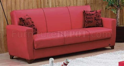 dallas sofa bed dallas sofa bed sofa bed in red leatherette w optional