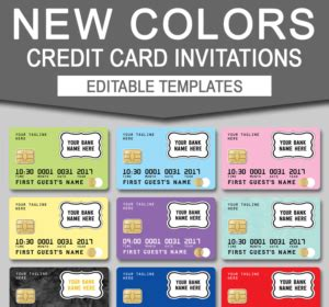 credit card invitation template free tutorials tips
