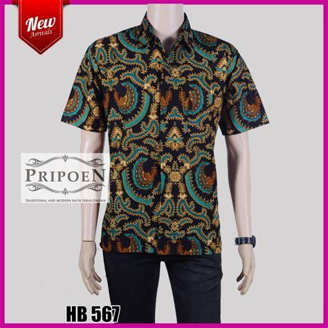Kemeja Katun Sogan By Barosa Batik baju batik pria kemeja batik modern hb 567 pripoen