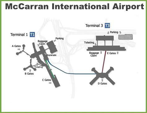 las airport diagram las vegas mccarran international airport map