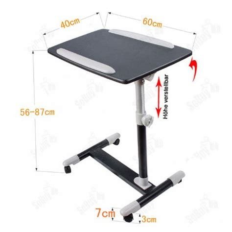 Table De Lit Avec Plateau Inclinable Pour Ordinateur Portable by Sobuy Fbt07n2 Sch Table De Lit Pour Ordinateur Portable