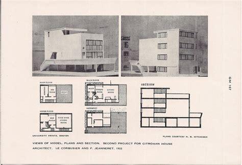 bass walter s floor plan stone house design le corbusier with pierre jeanneret citrohan house plans