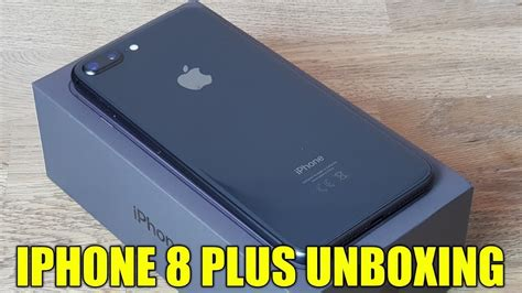 iphone 8 plus space grey unboxing