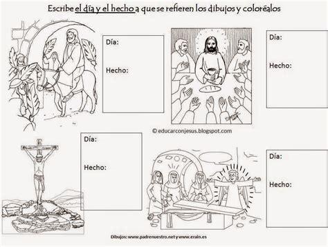 imagenes niños semana santa semana santa im 225 genes para colorear o pintar material