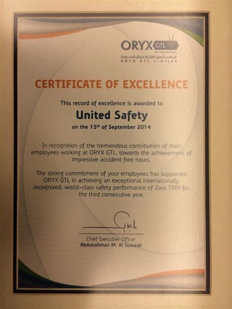 browz recognizes employer safety contributions employee