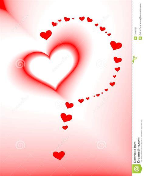Carte Du Jour De Valentine Vecteur Coeur Romantique Dessin De Coeur Rouge L