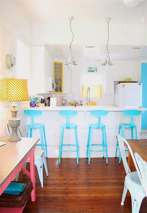 blue bar stools kitchen furniture 18 brilliant kitchen bar stools that add a serious pop of