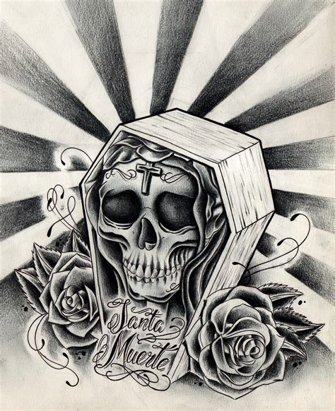 muerte tattoo design santa muerte by willemxsm on deviantart