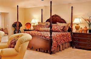 Red And Gold Bedroom Bedspreads For Four Poster Beds