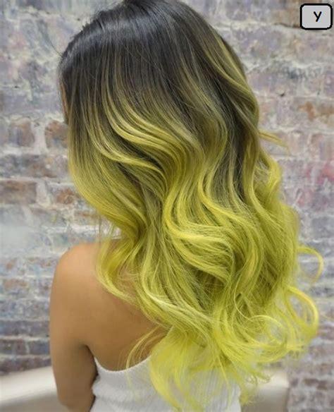 gaya rambut panjang wanita cat kuning terbaru rini