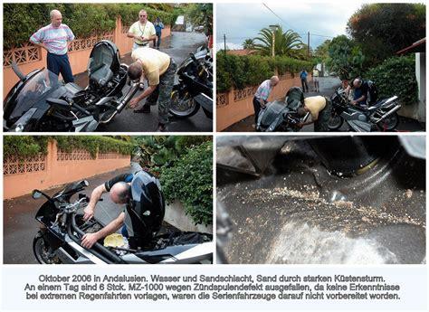 Mz Faber Motorrad Teile by Wasser U Sandschlacht In Andalusien Mit Mz 1000 Mz Faber