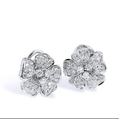 fiori jewelry leo pizzo fiori collection gold flower earrings at