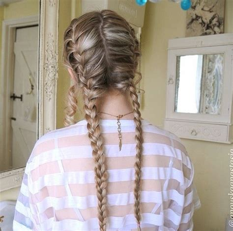 french braids pin up on the sid for black woman two french braids hair pinterest