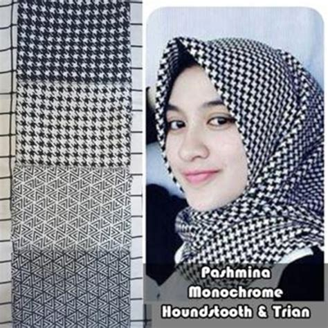 Pashmina Segiempat 9 pashmina monochrome segi empat grosir murah bundaku net