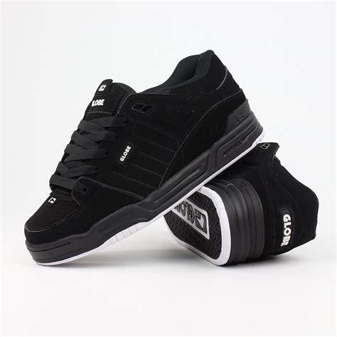 globe fusion shoes black black white