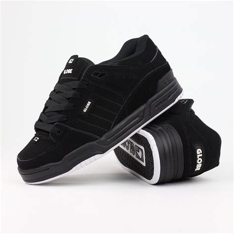 globe fusion shoes black black white